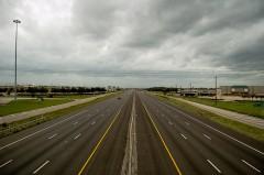 I-45 in Houston after Hurricane Ike