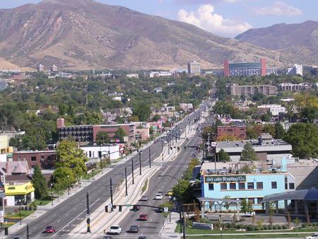Salt Lake City's light-rail line.