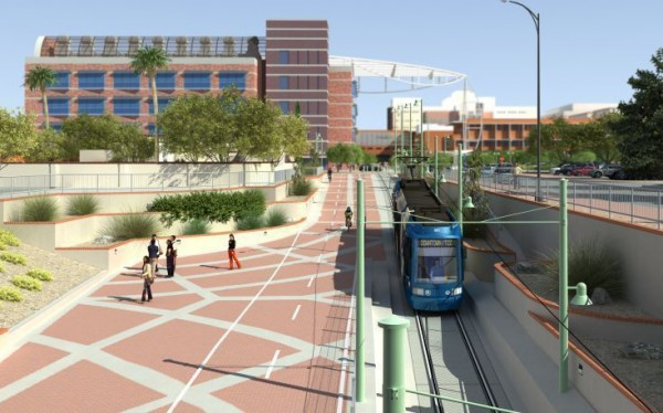 Tucson Streetcar rendering