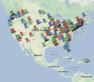 Click to see the full map of TIGER transportation grants.