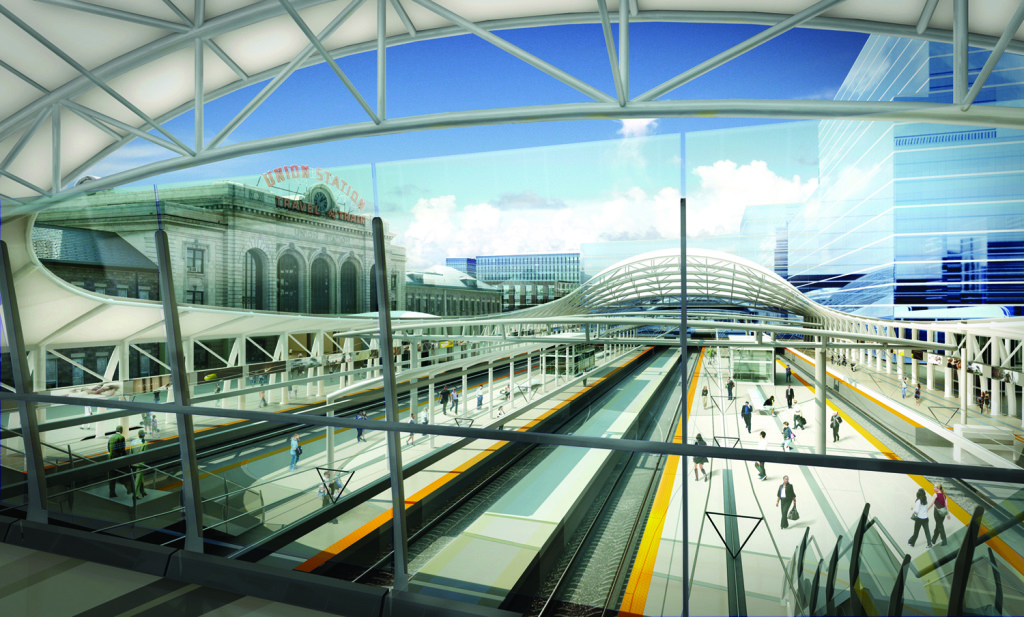 Denver Union Station rendering courtesy of the Denver Union Station Authority.