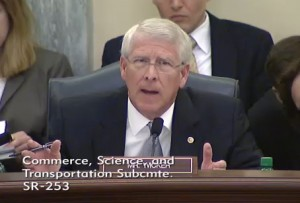 Senator Wicker asks a question during this week's hearing.