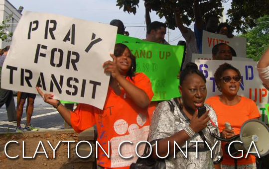 Suburban Atlanta county votes to raise taxes and join Atlanta's regional transit system