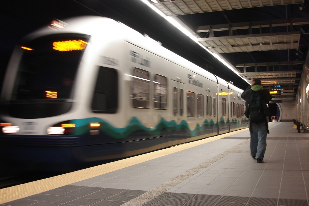 Sound Transit's LINK light rail on the Seattle-SeaTac line. LINK is being expanded by a combination of local funds approved by voters and federal New Starts funds.