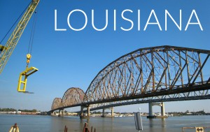 Louisiana featured bridge construction