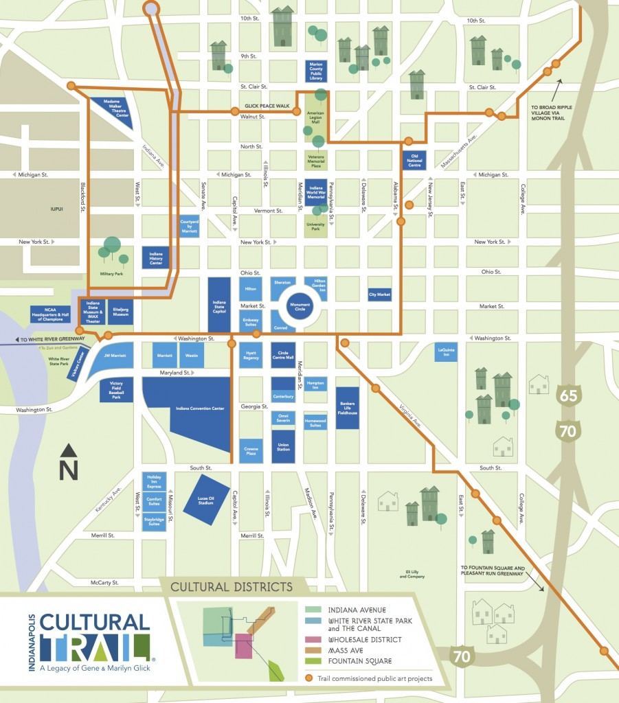 Indy Cultural Trail Map
