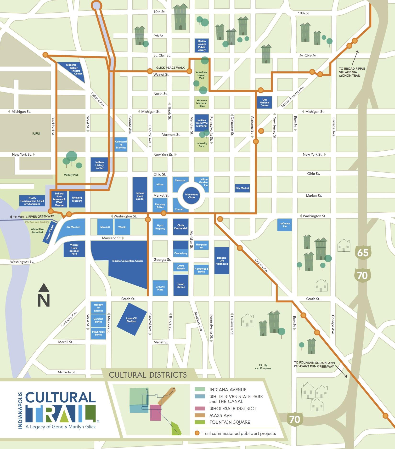 Indianapolis Neighborhood Map on