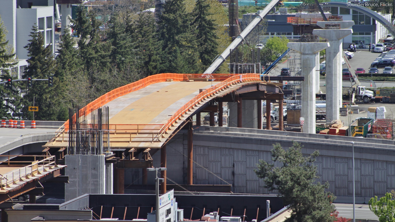 Picture of Bellevue, WA light rail construction