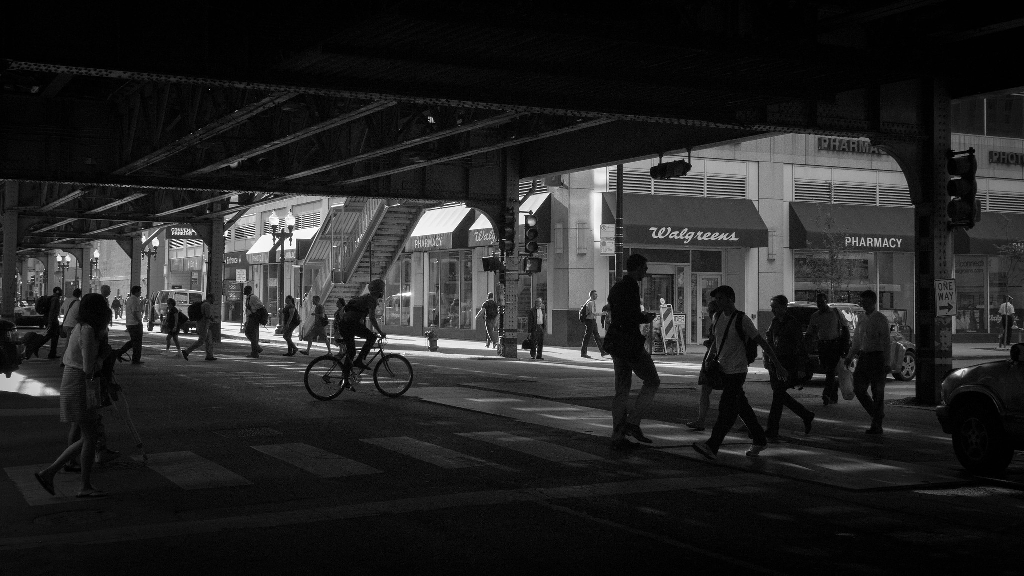 """Transportation For America Chicago """"L"""" underpass, multiple people ..."""