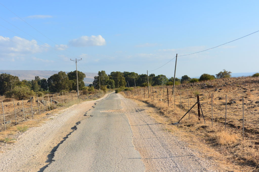 Bumpy border road
