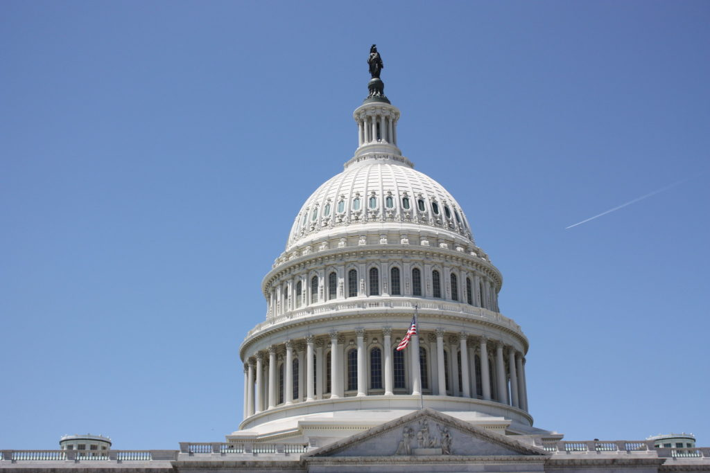 Close-up of Capitol building